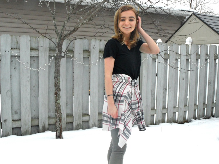 flannel ootd