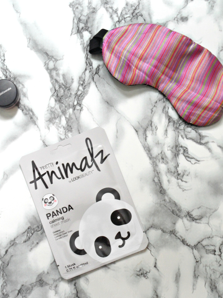 sheet mask flatlay