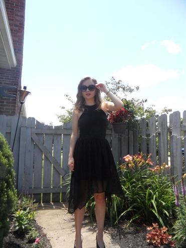 black skirt ootd