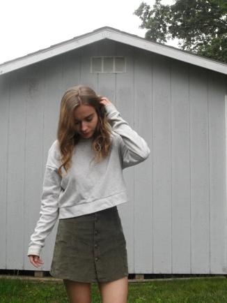 fashion blogger staring at ground