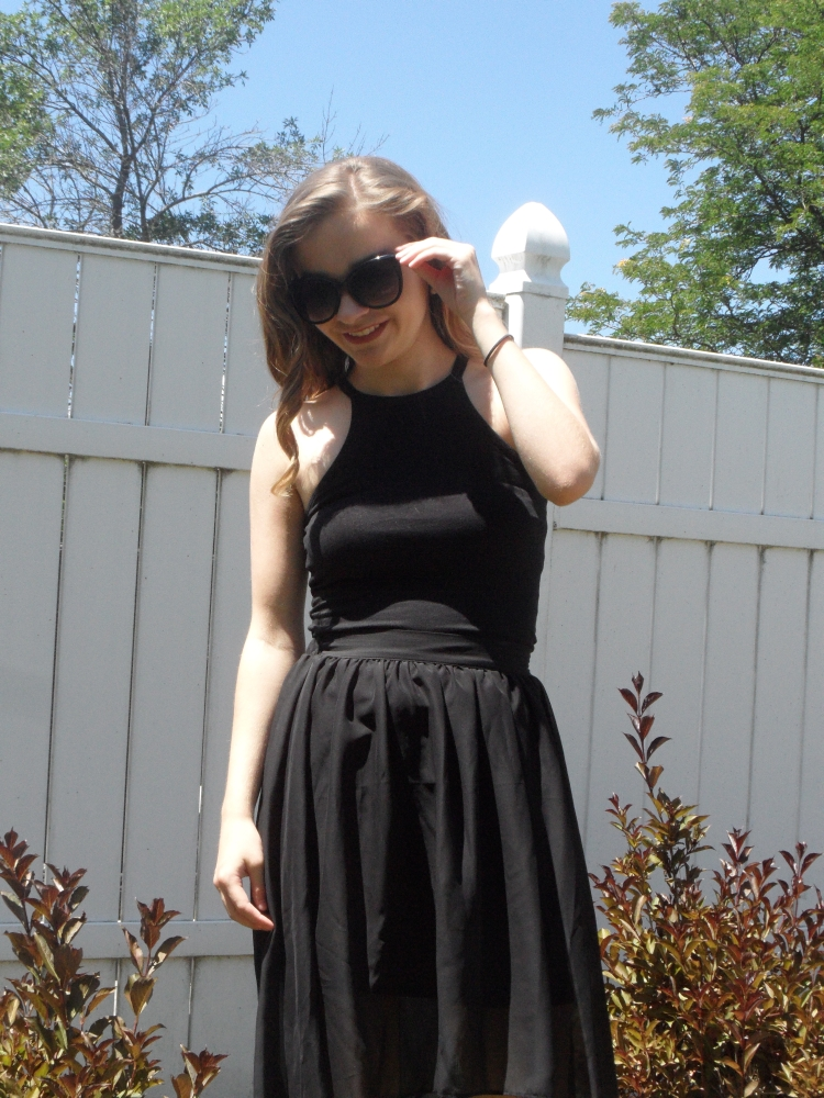 ootd black sunglasses