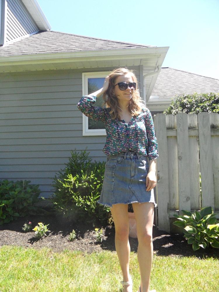 summer jean skirt