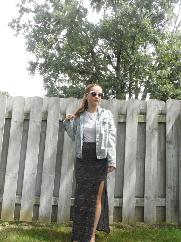 long skirt ootd