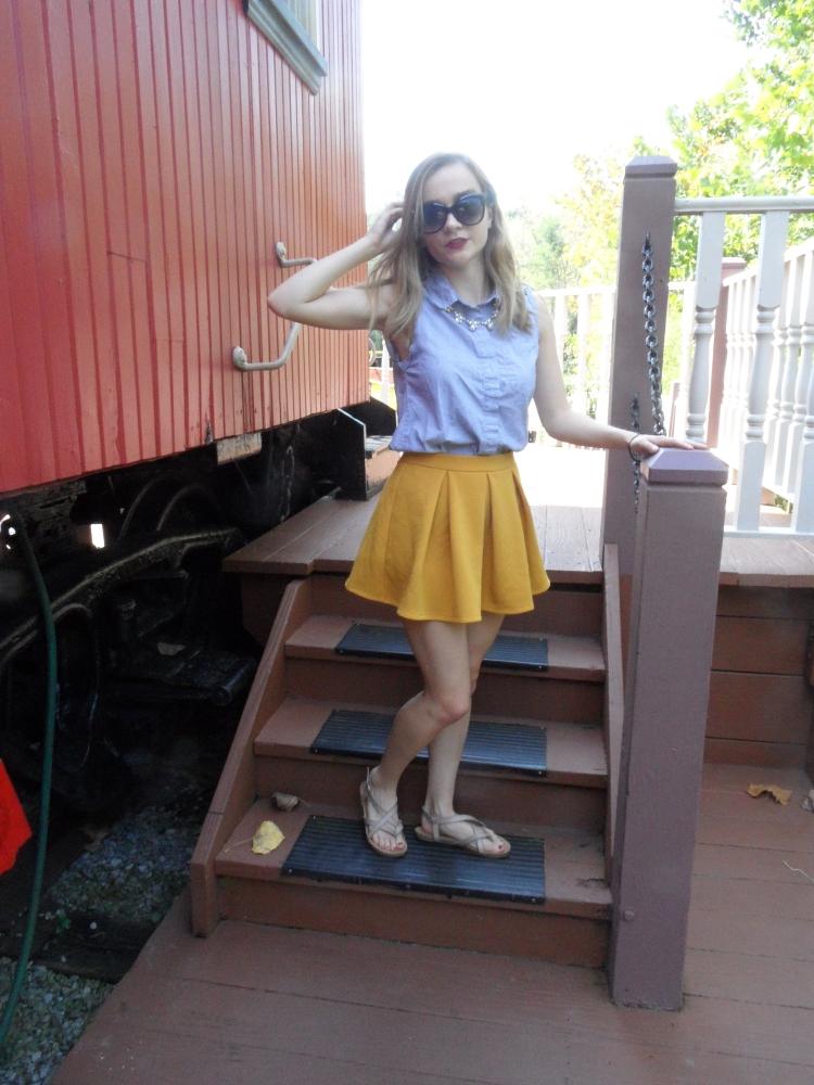 mustard skirt shot 2