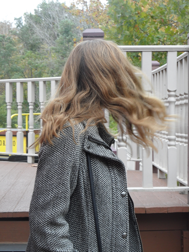 hair movement close up
