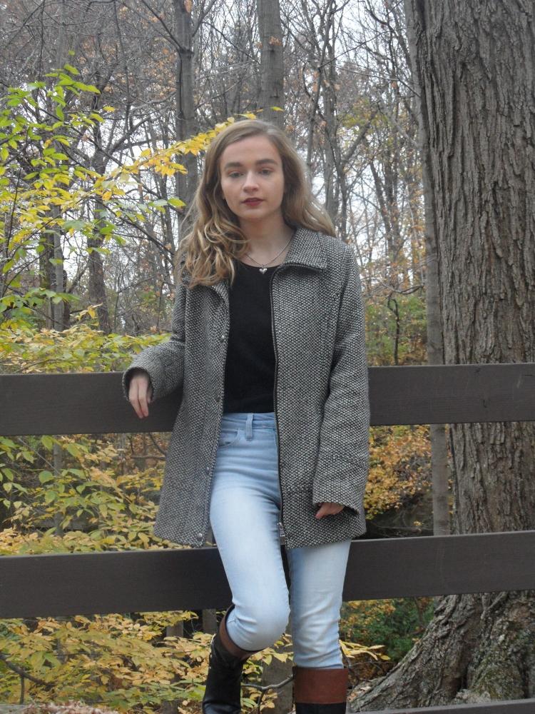 coat ootd fall